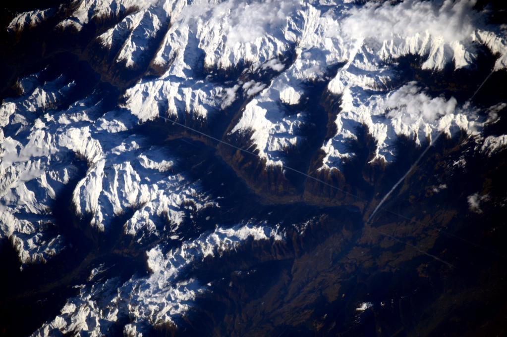 Foto Val di Sole ripresa dalla ISS di Samantha Cristoforetti il giorno di Natale 2015
